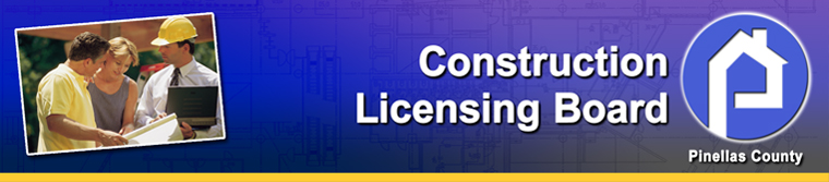 link to Pinellas County Construction Licensing Board home page